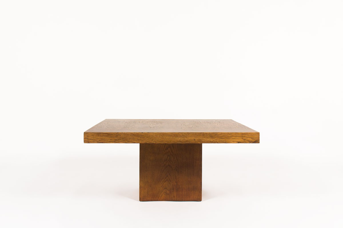 Andre Sornay square coffee table in oak 1930