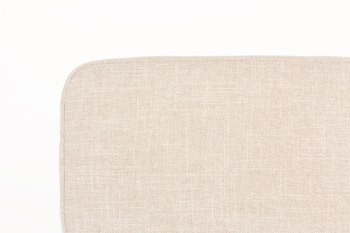 Chaises André Simard tissu coton beige édition Airborne 1960 set de 6