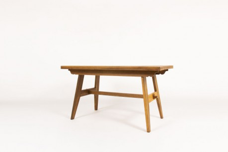 Rene Gabriel rectangular dining table in oak 1950