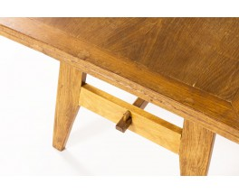 Rene Gabriel rectangular dining table in oak 1950