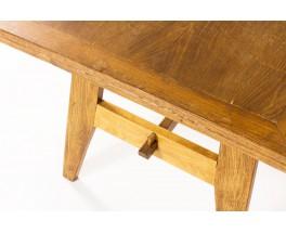 Table de repas rectangulaire René Gabriel en chêne 1950