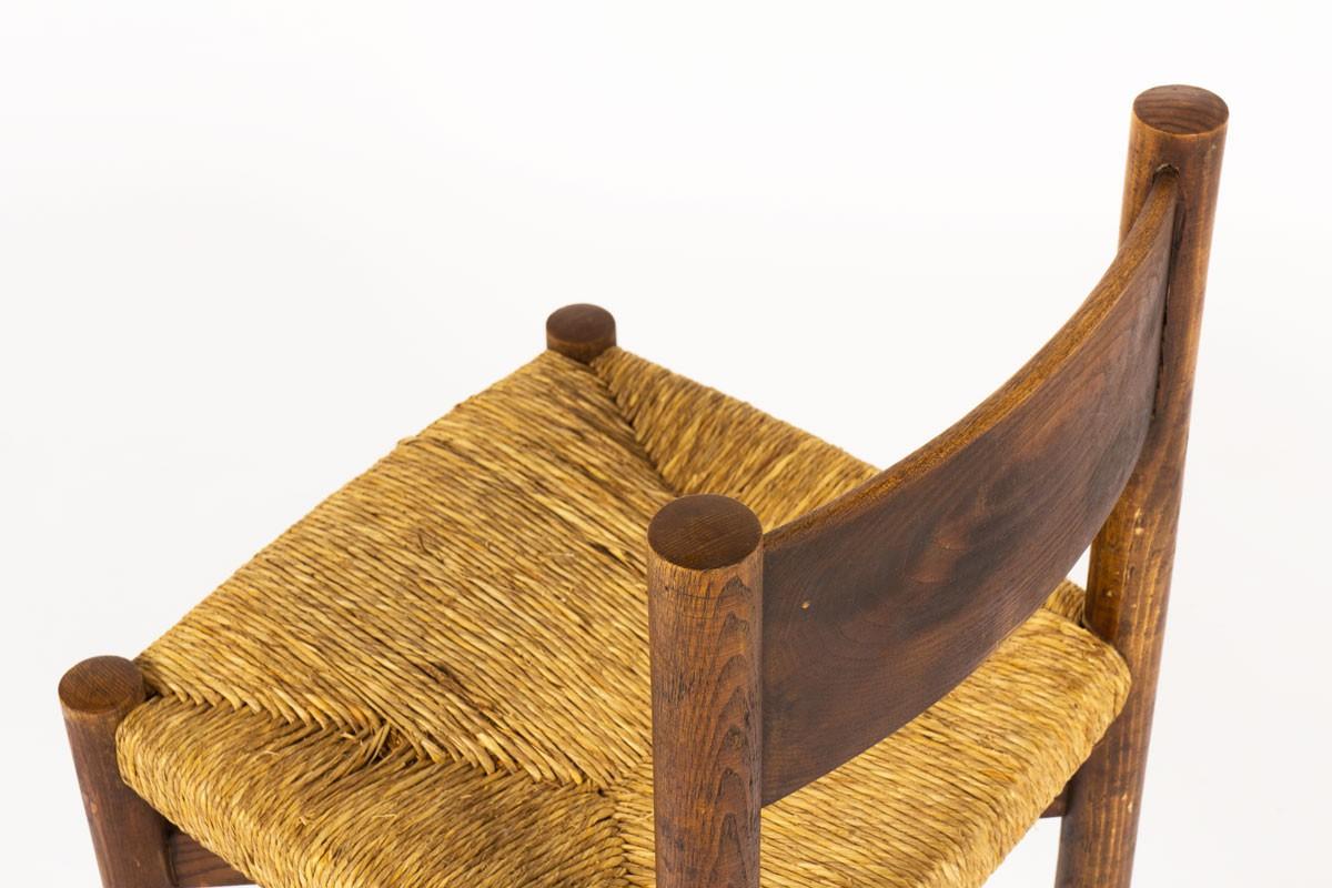 Chaises Charlotte Perriand modèle Méribel en chêne édition Steph Simon 1950 set de 4