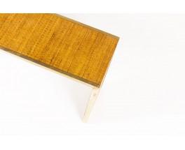 Console table in brass and rattan Italian contemporary design