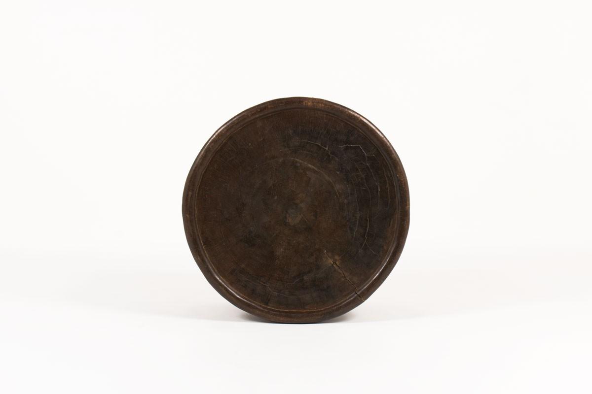 Table basse ronde Bamiléké modèle Araignée bois brut