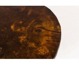 Tables basses en orme 1950 set de 3