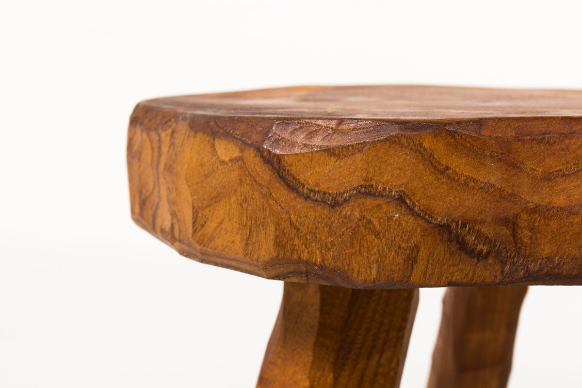 Coffee tables in elm 1950 set of 3