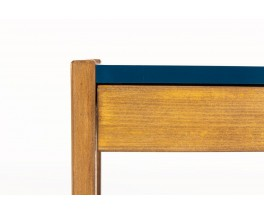 Bedside tables with drawer tinted beech and lacquer 1960 set of 2