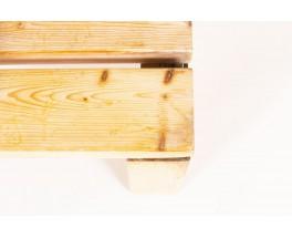 Banquette Charlotte Perriand modèle Archeboc en pin Les Arcs 1970
