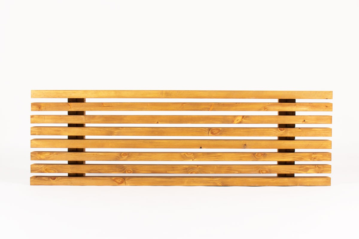 Bench with slat in tinted pine 1950