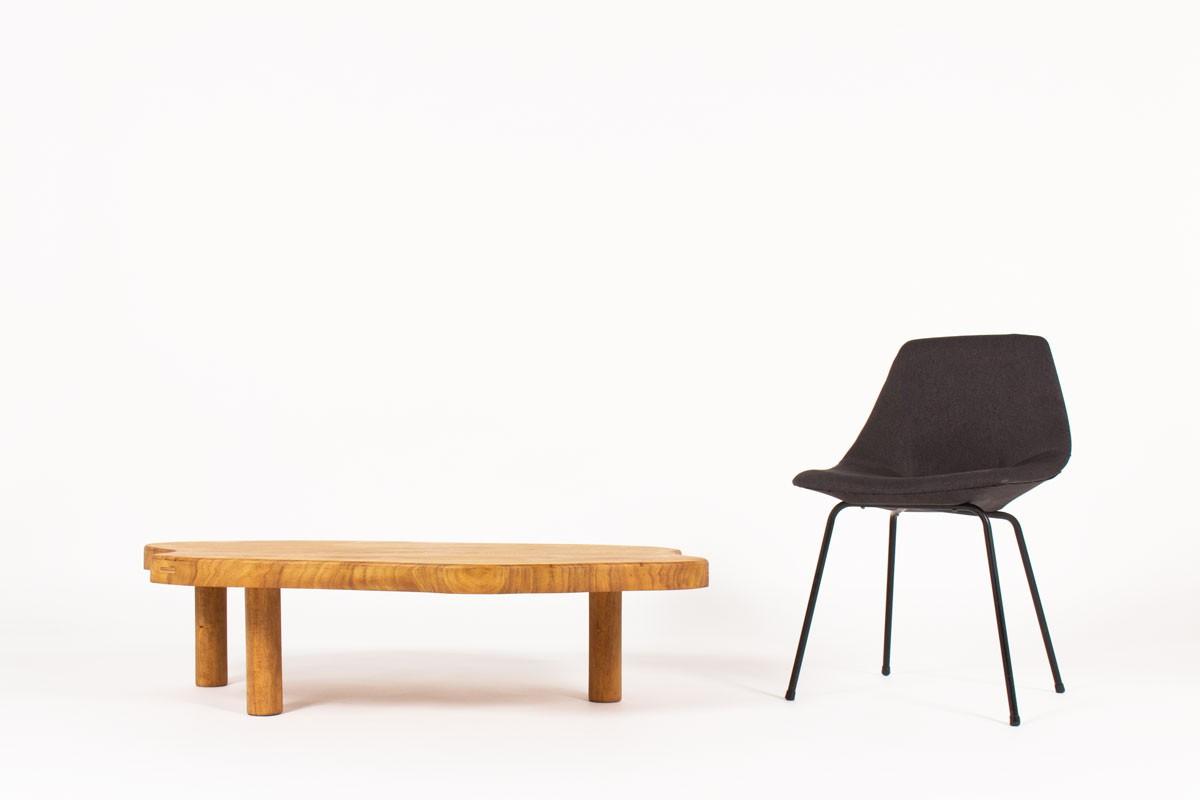 Table basse forme libre en chêne 1950