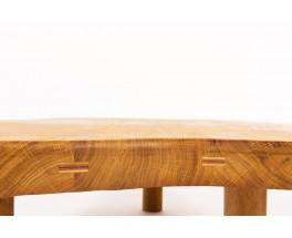 Coffee table freeform in oak 1950