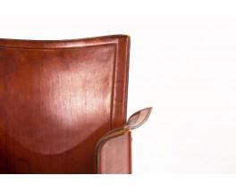 Tito Agnoli armchair model Korium in brown leather by Matteo Grassi 1970