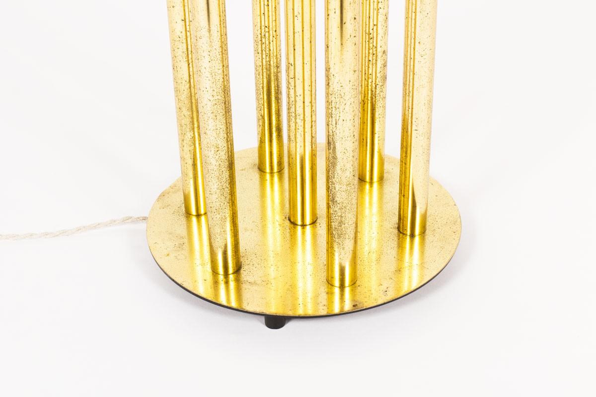 Lampadaire en laiton 7 feux design italien 1950