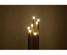 Floor lamp in brass 7 lights Italian design 1950