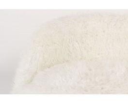 Armchair in white fur 1950