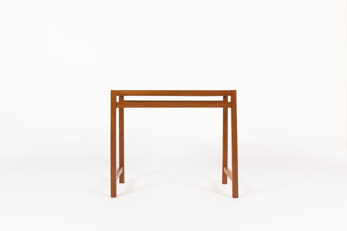 André Sornay console table First edition mahogany and black laminate 1960