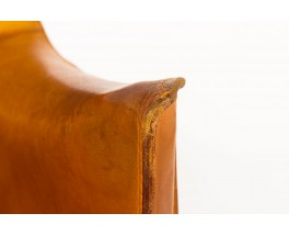 Mario Bellini armchair model Cab brown leather edition Cassina 1970