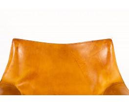 Fauteuil Mario Bellini modèle Cab cuir marron édition Cassina 1970