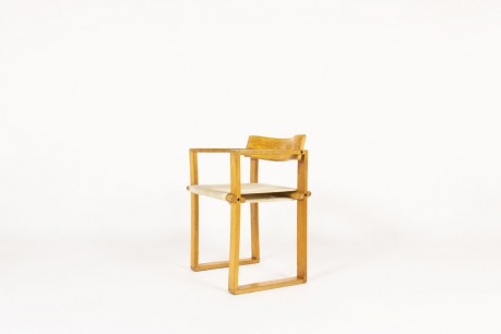 Armchair in ash and white rope 1950