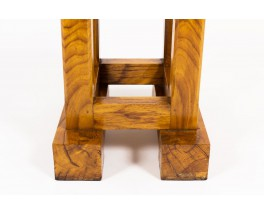 Square stools in solid elm 1960 set of 2