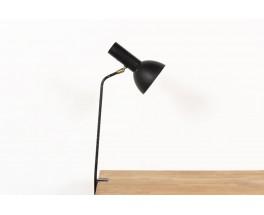 Lampe agrafe en métal noir design italien 1950