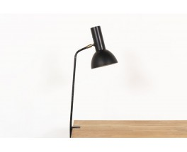 Clip lamp in black metal Italian design 1950