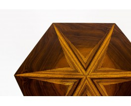 Coffee table model hexagon in marquetry Art Deco 1930