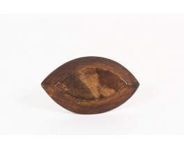 Trinket bowl in teak free form 1950