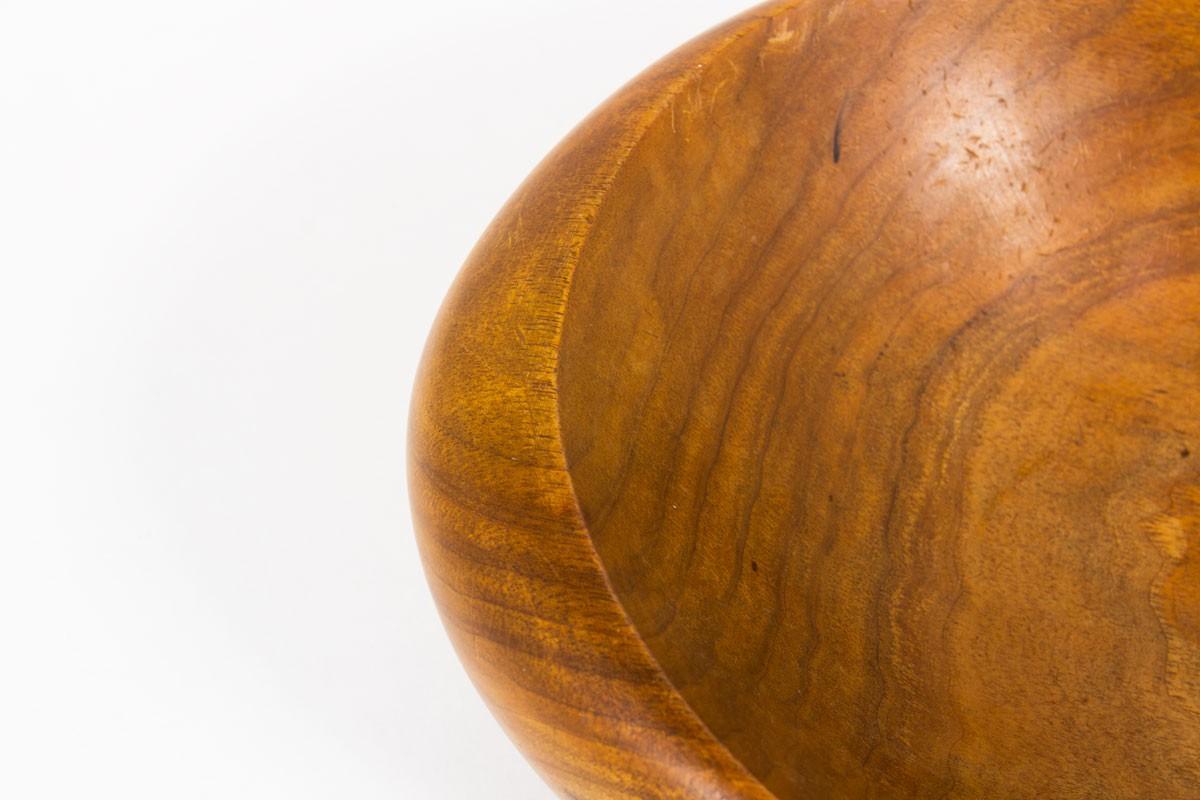 Trinket bowl in teak brutalist design 1950