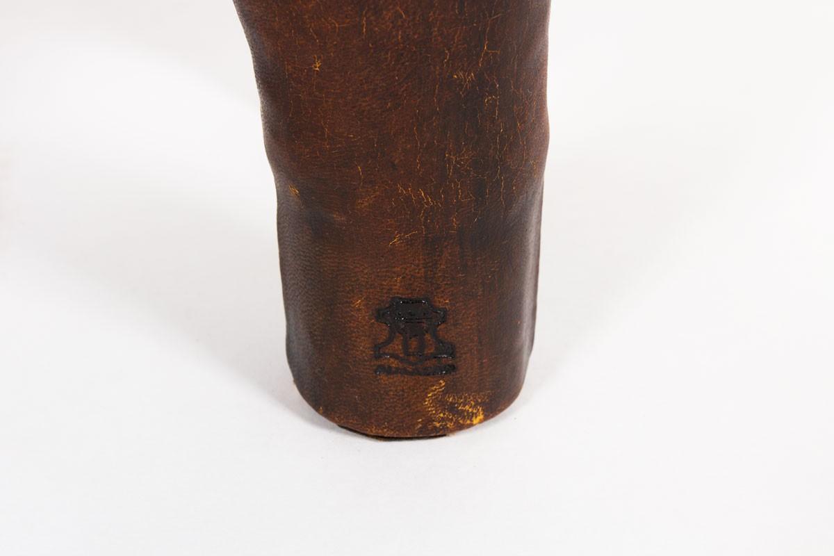 Rhinocéros Dimitri Omersa cuir marron 1960