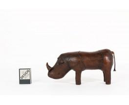 Dimitri Omersa rhinoceros brown leather 1960