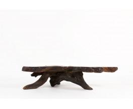 Table basse racine de palissandre design brutaliste 1950