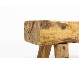 Bench in oak small model brutalist design 1950