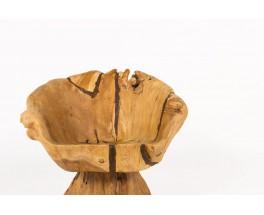 Armchair in olive tree root brutalist design 1950