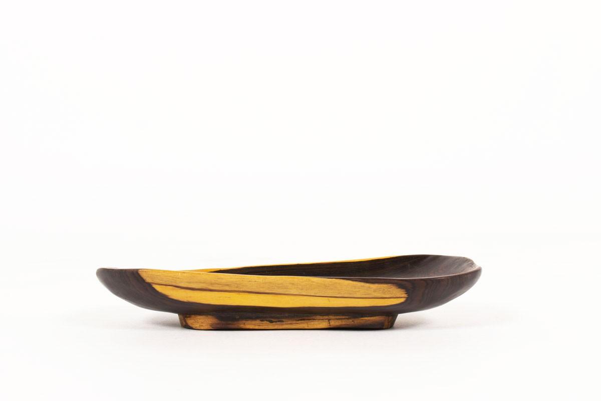 Trinket bowl in Macassar ebony 1950
