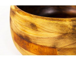 Trinket bowl fruit basket in solid pine 1950
