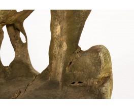 Fauteuils en racine de teck design brutaliste 1950 set de 2
