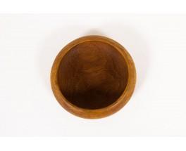 Round trinket bowl small model in solid teak 1950