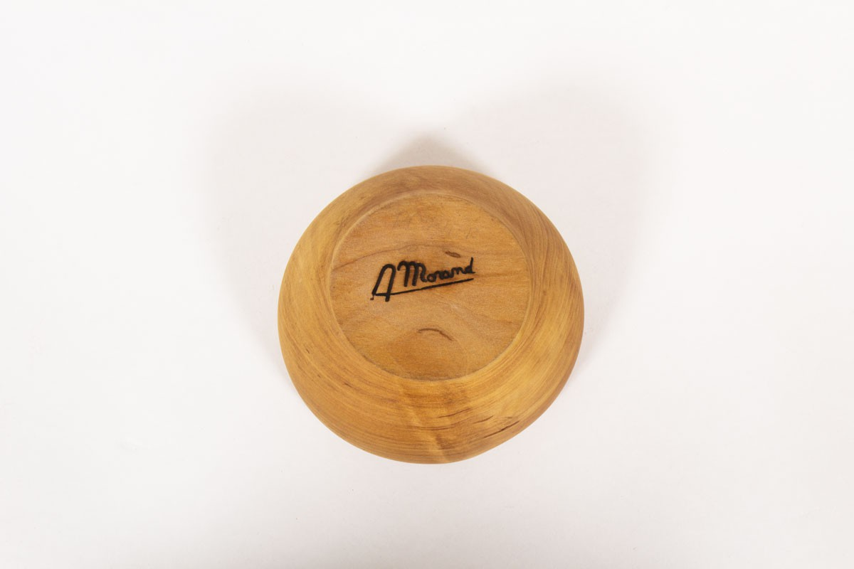Round trinket bowl small model in elm 1950
