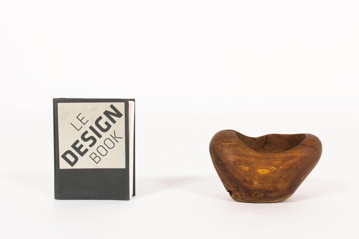 Vide poche petit modèle en olivier 1950