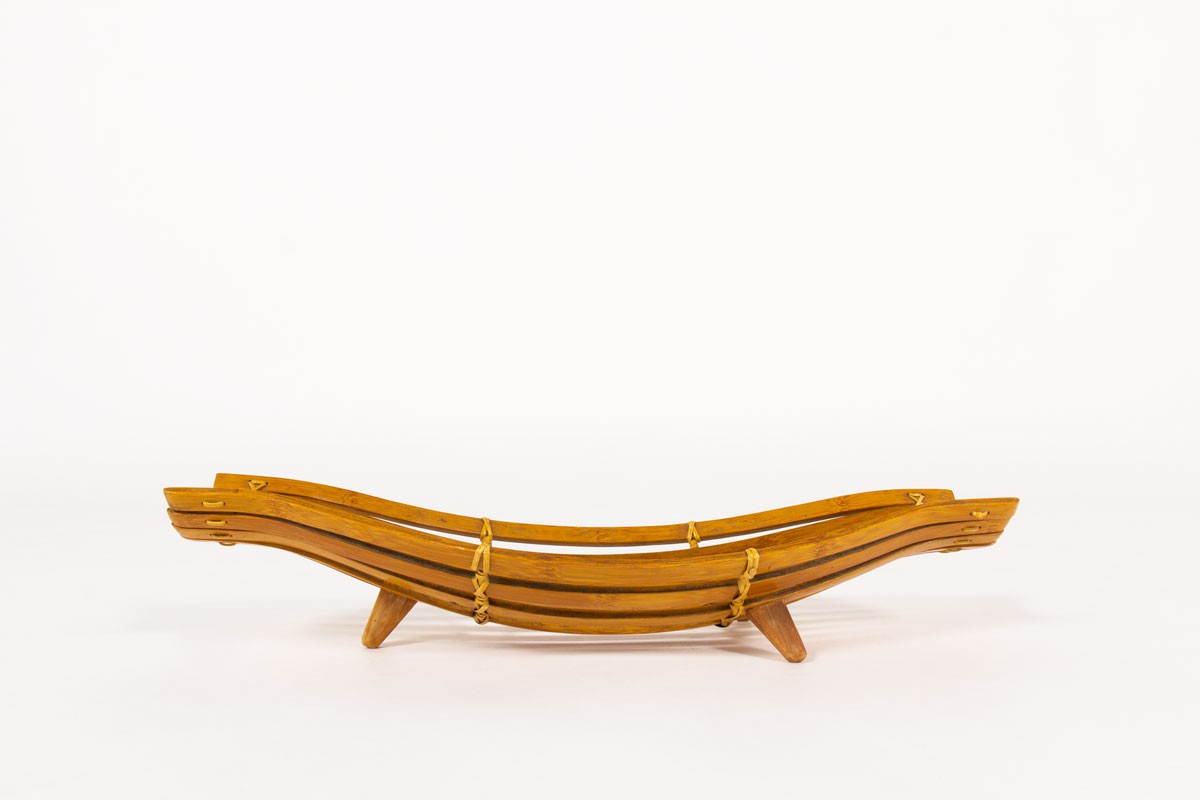 Fruit bowl in bamboo and rattan 1950