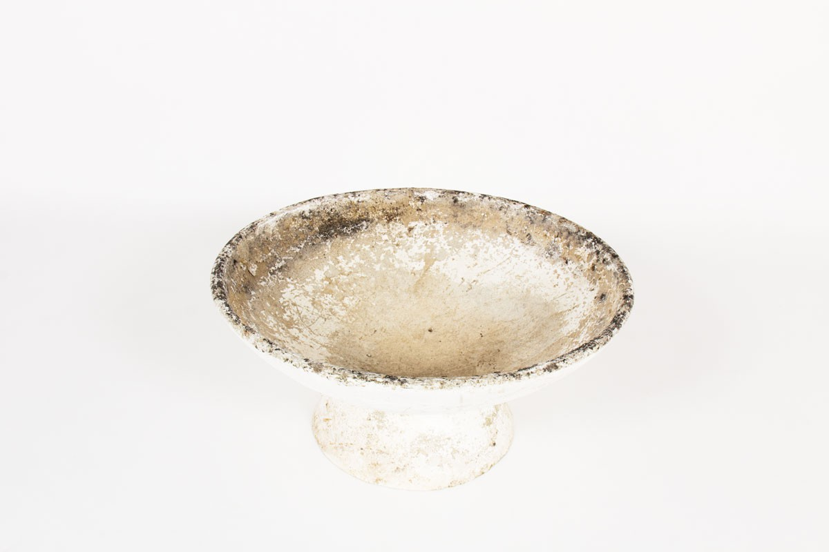 Willy Guhl planter model Bowl with base edition Eternit 1950