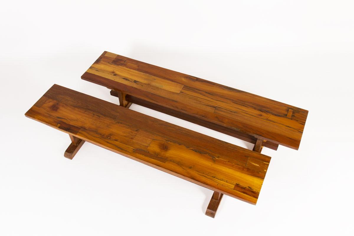 Bench in peroba Brazilian design 1950