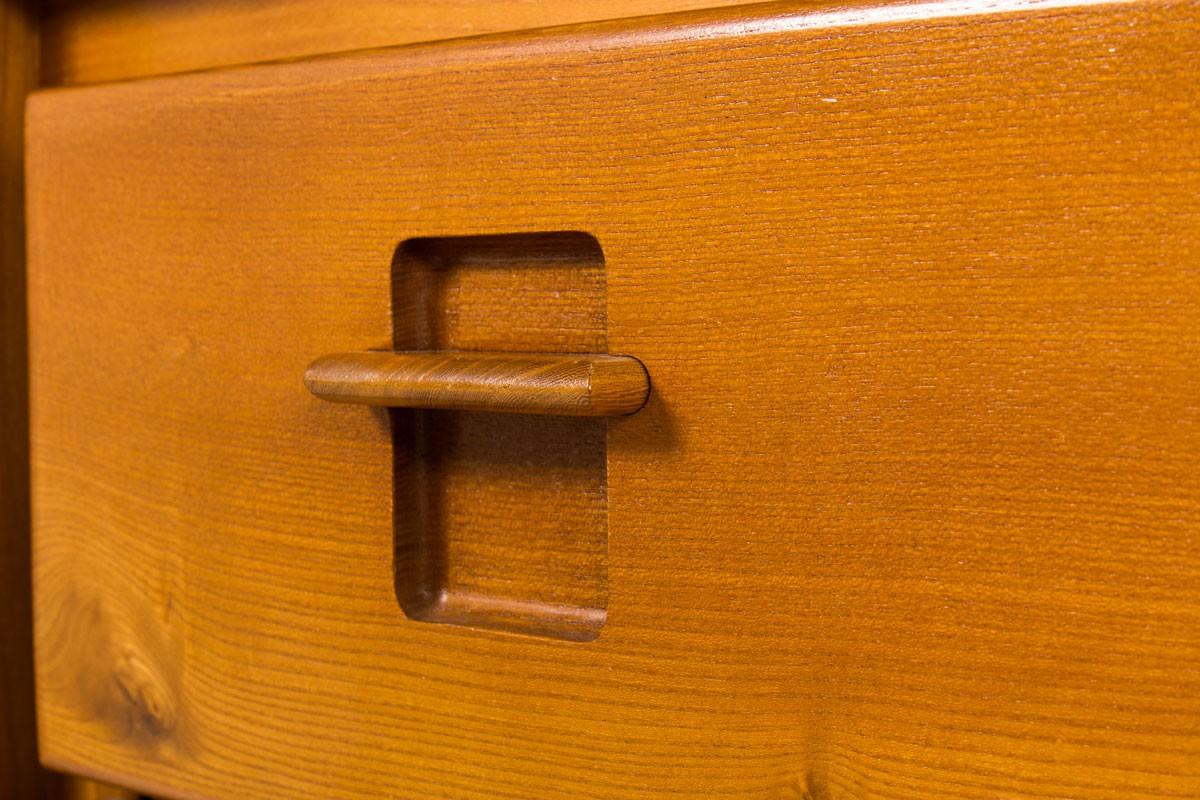 Commode à tiroirs en orme édition Maison Regain 1980