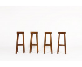 Bar stools in oak 1950 set of 4