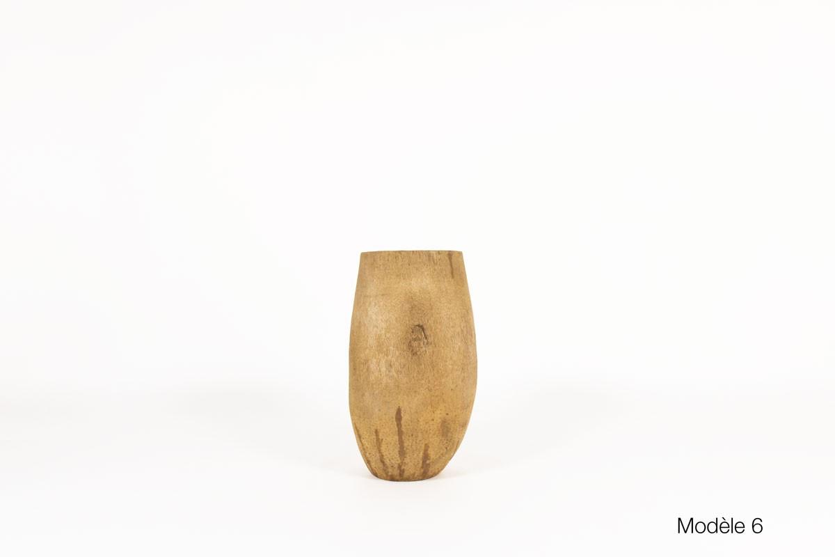 Jardinière en cocotier design africain 1950