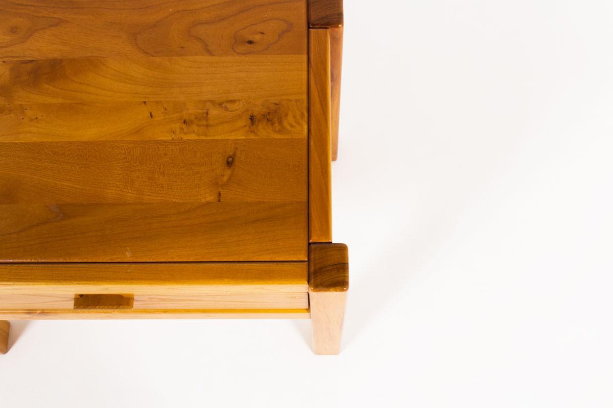 Bedside table in elm edition Maison Regain 1980