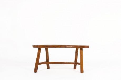 Bench in elm small model brutalist design 1950