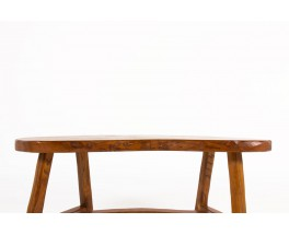 Bench in elm small model brutalist design 1950