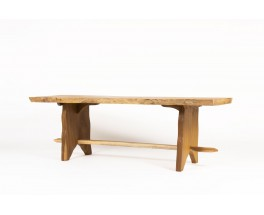 Dining table in acacia 1950